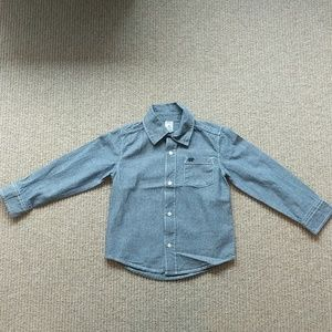 Chambray Button Front Shirt - Boys 4T